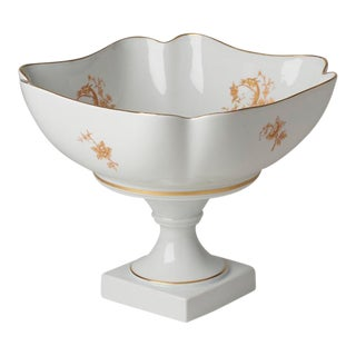 20th Century French Limoges Pedestal Center Piece Serving Bowl For Sale