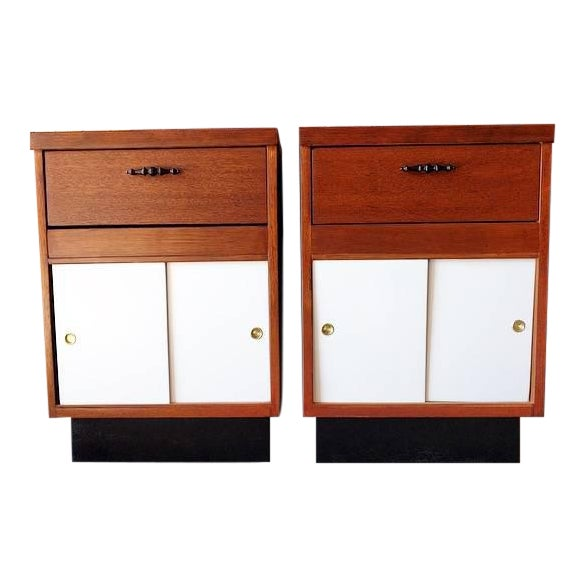 1950's Refinished Bedside Tables - A Pair - Image 1 of 7