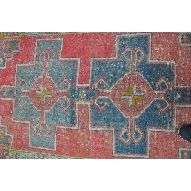Antique Turkish Oushak Rug - 4′ × 8′1″ - Image 6 of 7