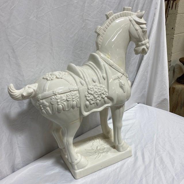 Modern Large Vintage Ceramic Tang Dynasty Horse For Sale - Image 3 of 12