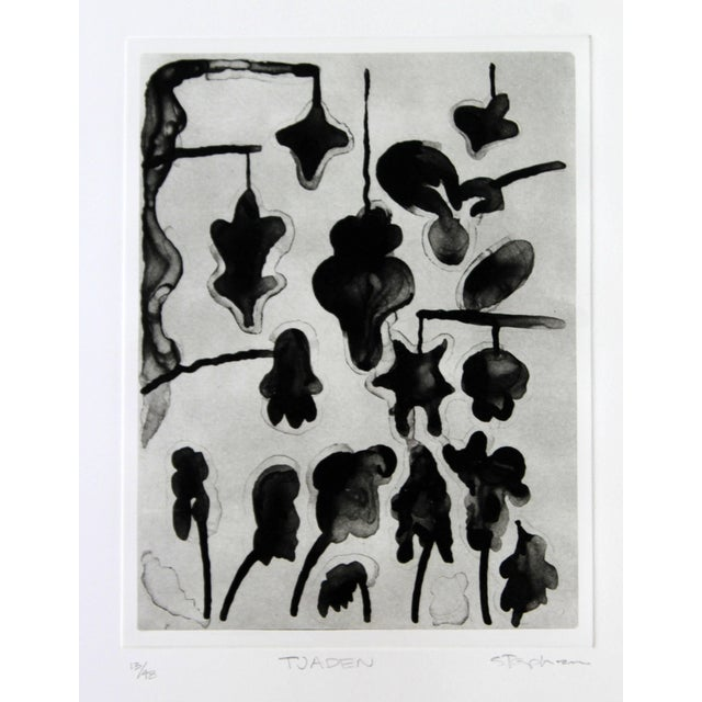 Unframed Lithograph Signed Gary Stephen Tjaden Numbered 13/48 For Sale - Image 4 of 6