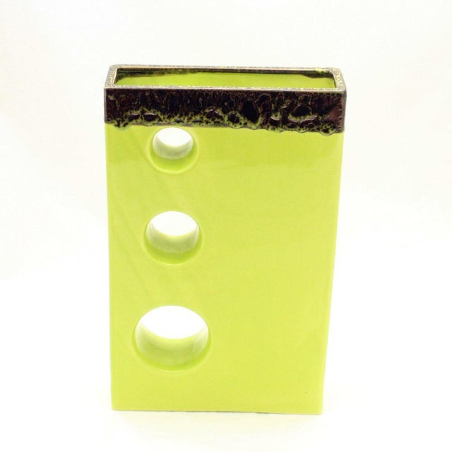 "An Italian studio ceramic ""Pistachio"" glassed Modernist Mid century. Conditions : perfect MEASUREMENTS Height: 40cm..."