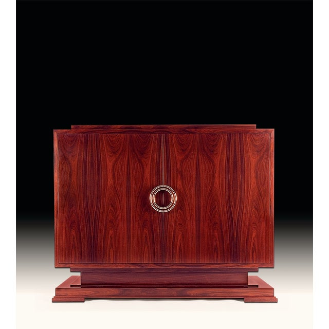 Art Deco Macassar Ebony Odeon Cabinet For Sale - Image 3 of 3