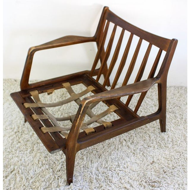 Black Distressed Pair of IB Kofod Danish Lounge Chairs For Sale - Image 8 of 8