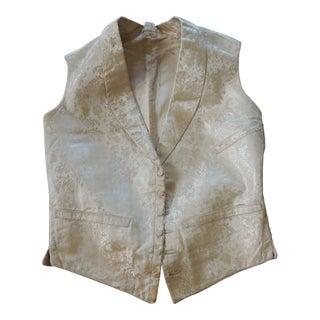 Fashion Antique Italian Damask Petite Unisex Vest For Sale