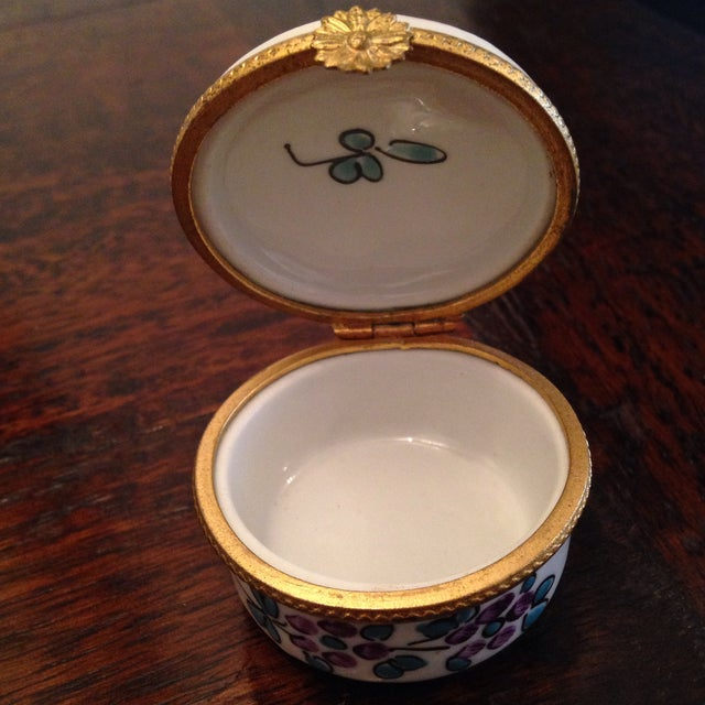 1980s Vintage Limoges Ashtray & Box - A Pair For Sale - Image 5 of 7