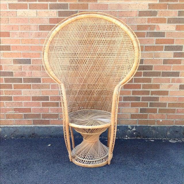 Vintage Rattan Peacock Chair - Image 2 of 9