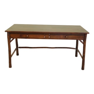 Adirondack Rustic Style Pine Drawer Desk For Sale