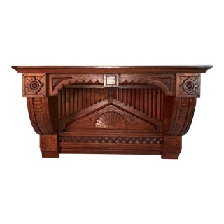 Antique Heavily Detailed Oak Shelf