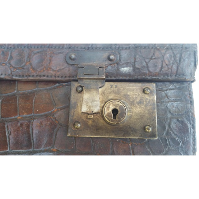 19th Century Alligator Suitcase For Sale - Image 4 of 7