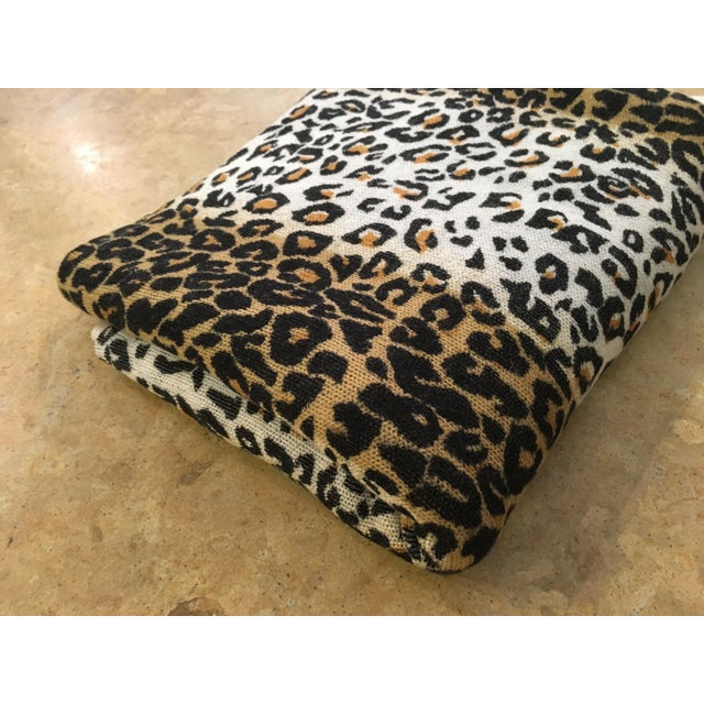 Large Thin Leopard Cashmere Throw - Image 4 of 10