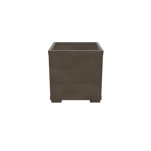 Oomph Oomph Ocean Drive Outdoor Planter Small, Dark Gray For Sale - Image 4 of 5