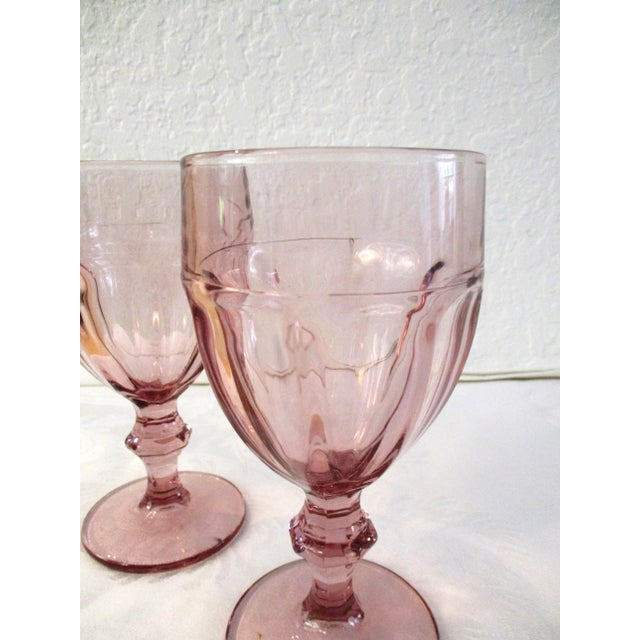 Libbey Glass Co. Gibraltar Plum Glass Goblets - Set of 8 For Sale - Image 4 of 5