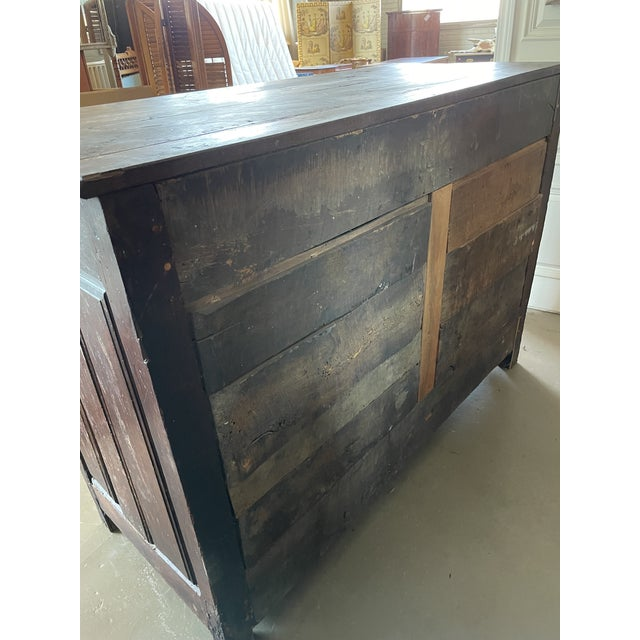 Antique Rustic French Country Louis XIV Hardwood Two Door Storage Cupboard For Sale - Image 12 of 13