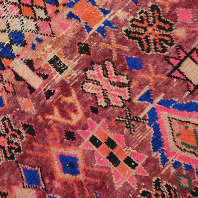 1960s Vintage Berber Moroccan Rug - 5′4″ × 6′2″ For Sale - Image 4 of 9