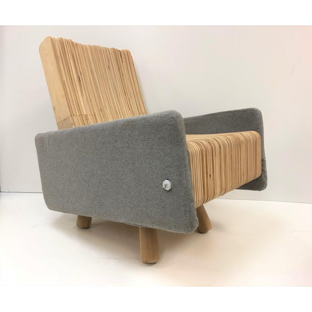 Custom Plywood Lounge Chair For Sale - Image 9 of 9