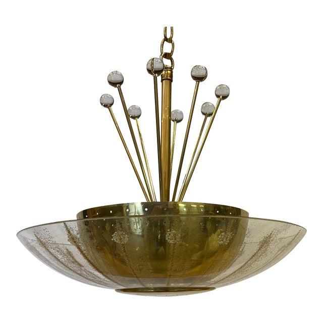 Vintage Brass Sputnik Style Chandelier For Sale