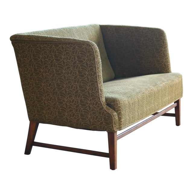 1930s Kaare Klint Style Danish Settee in Mahogany Attributed to Georg Kofoed For Sale
