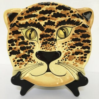1960's Hand Painted Tiger Platter - Made in Italy Preview
