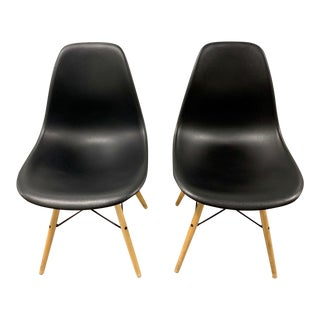 Herman Miller Eames Molded Plastic Side Chair With Dowel Base - a Pair For Sale