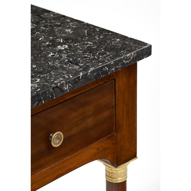 Empire Style Marble Top Side Tables- A Pair - Image 7 of 10