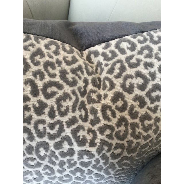 This listing is for a pair of pillows in an elegant animal print by Salamander in epingle velvet smoke and creme backed by...