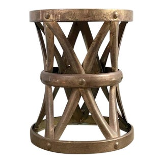 Vintage Brass X Style Side Table