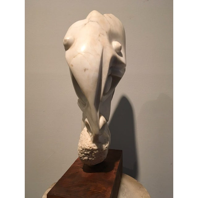 American American Sculpture Hand-Carved Stone : Moses, Ca. 1940 For Sale - Image 3 of 6