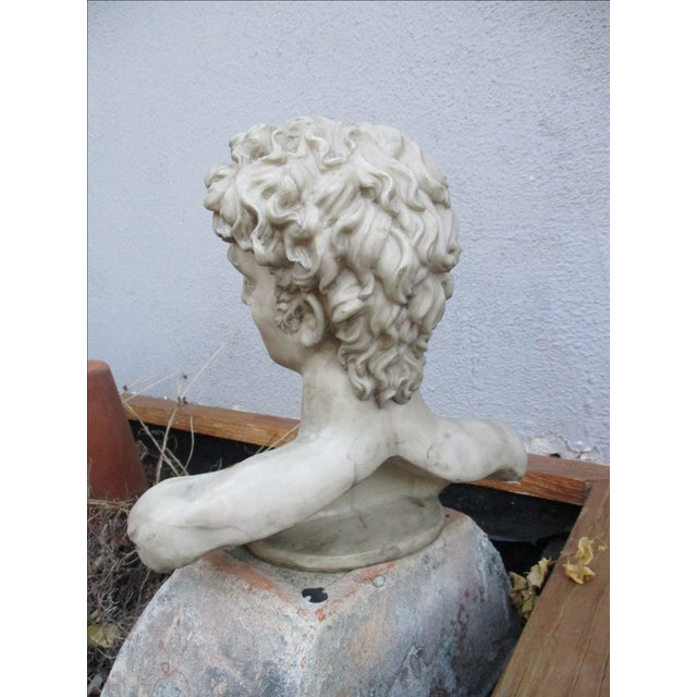 Neoclassical Vintage Cast Resin Bust - Image 8 of 11