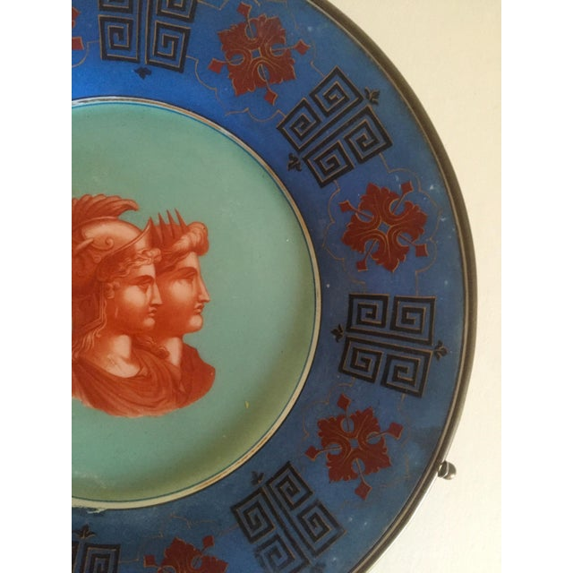 Vintage Hand Painted Grecian Decorative Wall Plate - Image 4 of 9