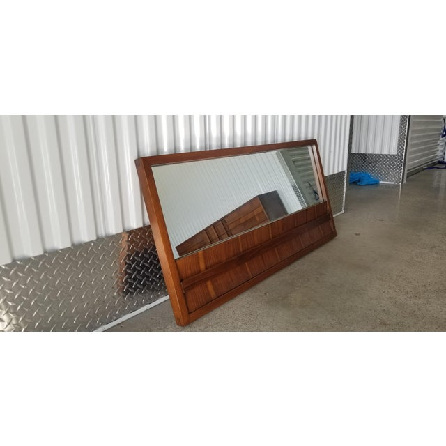 1970s Brutalist Lane Credenza/Long Chest of Drawers with Mirror For Sale - Image 11 of 13