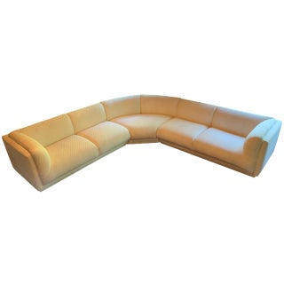 Vintage Bernhardt 3 Piece Sectional Sofa Attributed to Milo Baughman-1989 For Sale