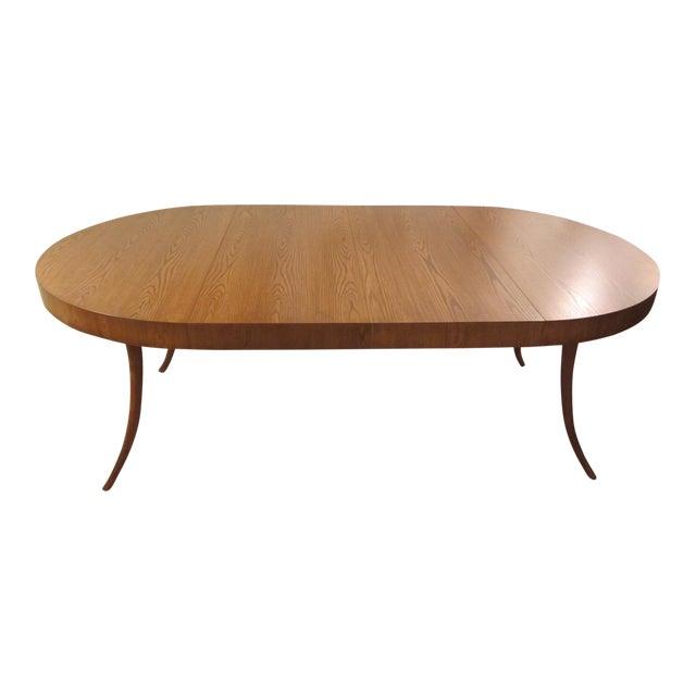Robsjohn-Gibbings Walnut Extension Dining Table For Sale