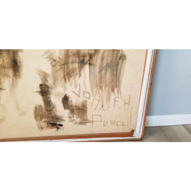 1970's John Purcell Abstract Still Life Oil on Canvas Painting, Framed For Sale - Image 11 of 12