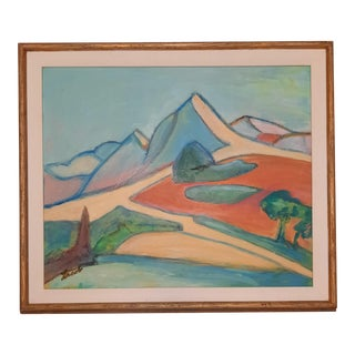Sarah Lacob Abstract Landscape Painting For Sale