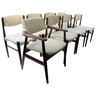 Set of 8 Danish Modern Dining Chairs in Rosewood by Grete Jalk For Sale