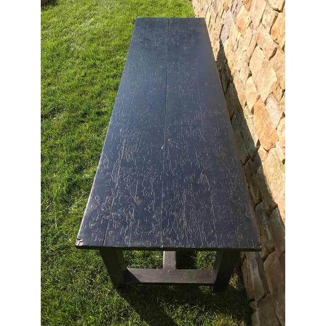 19th Century Painted Farm Table For Sale - Image 4 of 5