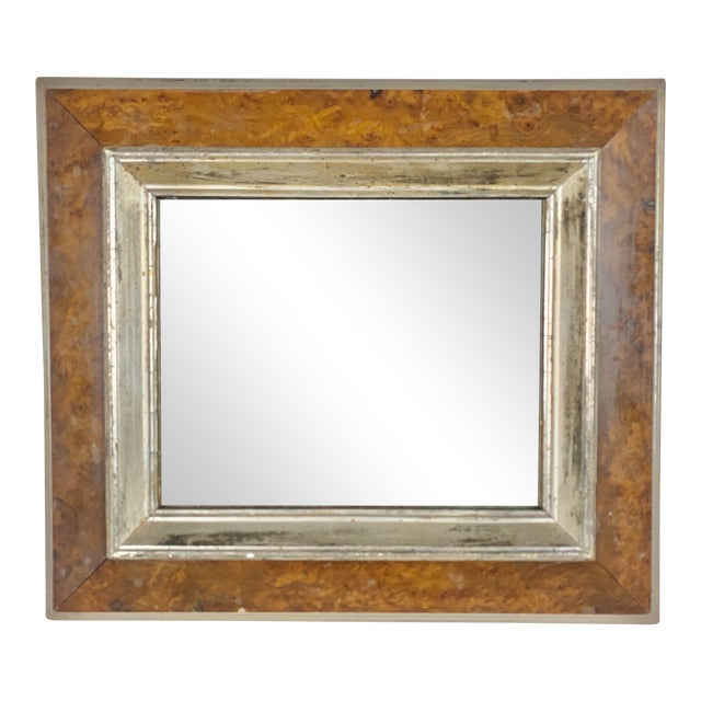 English Bird's-Eye Maple Frame With Mirror For Sale
