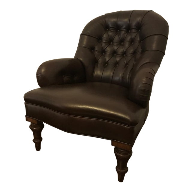 Ralph Lauren Home Collection Leather Reading Chair - Image 1 of 6