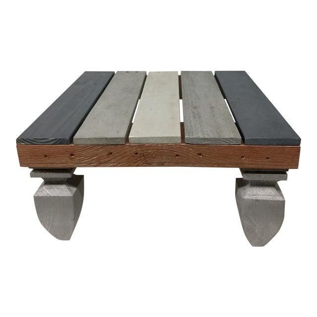 Industrial Reclaimed Hardwood Meditation Table For Sale