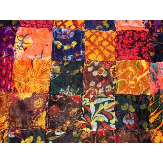 Vintage Boho Quilted Velvet Bedspread - Image 8 of 10