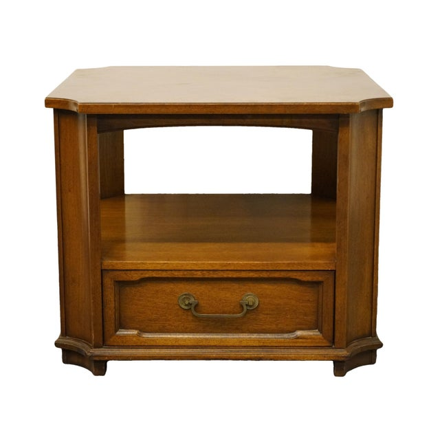 """Drexel Heritage Triune Collection Mahogany 27"""" Square Accent End Table For Sale - Image 13 of 13"""