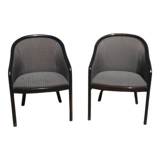 Bernhardt Mid-Century Modern Walnut Armchairs - a Pair For Sale
