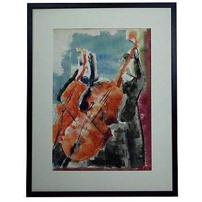 Andante Violin Watercolor Painting - Image 1 of 5