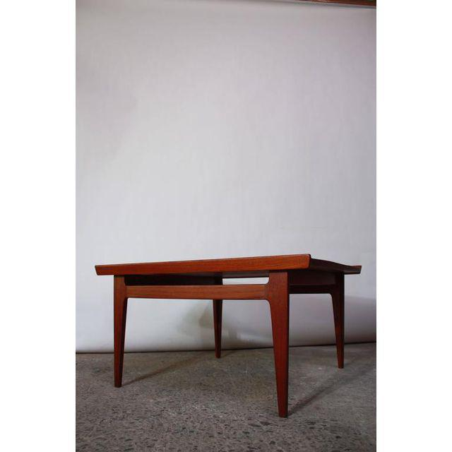 Early Finn Juhl for France and Daverkosen Teak Coffee Table For Sale In New York - Image 6 of 11