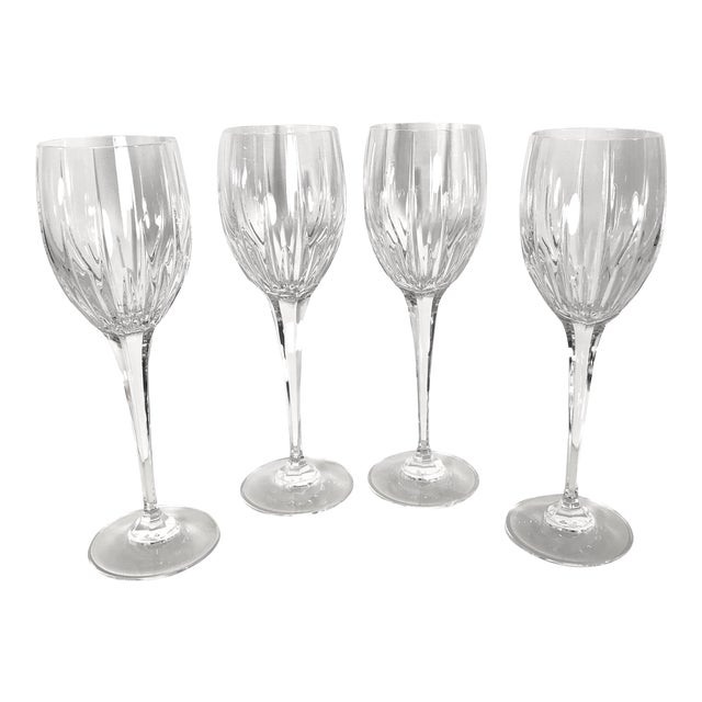 Mikasa Arctic Lights Imperial Cut Crystal Goblets - Set of 4 For Sale
