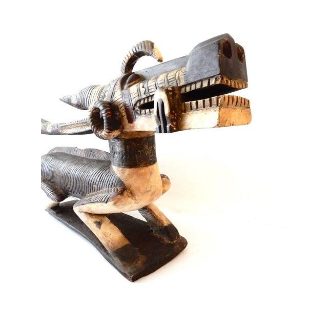 Mansion Size Bambara Chiwara Wood Sculpture For Sale - Image 4 of 10