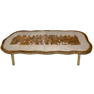 Philip and Kelvin LaVerne Romanesque Bronze Coffee Table For Sale