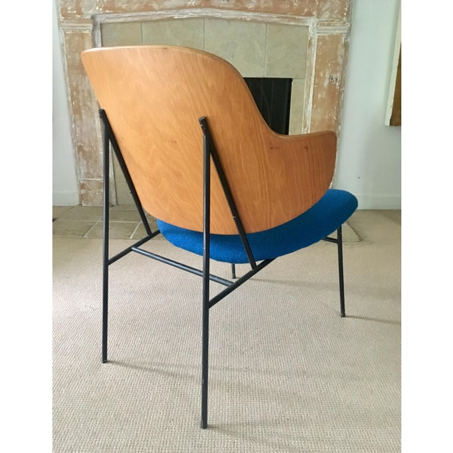 "Ib Kofod Larsen ""Penguin"" Chair in Blue - Image 7 of 11"