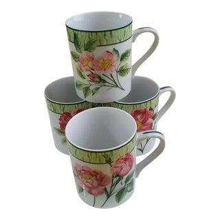 Tiffany & Co. Tiffany Wild Roses Tea Coffee Mugs - Set of 4 For Sale